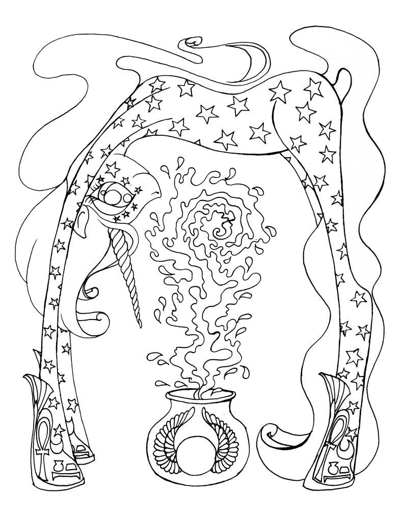 Unicorn Goddess Nut Unicorn Coloring Club